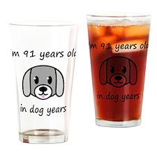13 dog years 2 Drinking Glass
