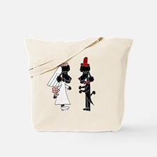 Poodle Wedding Tote Bag