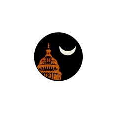 Moonrise Over DC Mini Button