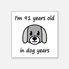 13 dog years 2 - 2 Sticker