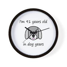 13 dog years 2 - 2 Wall Clock