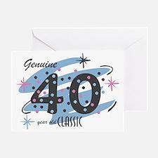 Classic 40 Confetti Greeting Card