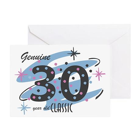 Classic 30 Confetti Greeting Card