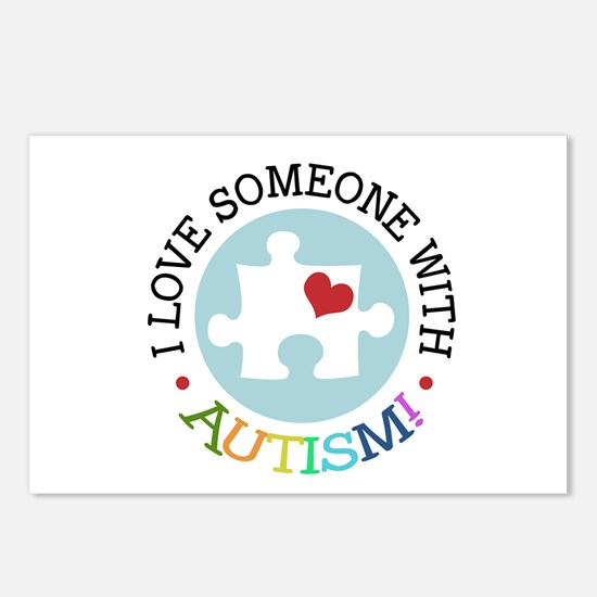 Autism Puzzle - Postcards (Package of 8)