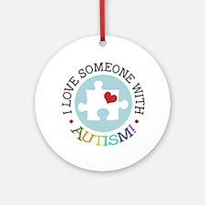 Autism Puzzle - Ornament (Round)