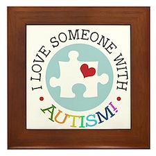 Autism Puzzle - Framed Tile