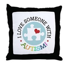 Autism Puzzle - Throw Pillow