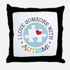 Autism Puzzle - Throw Pillow