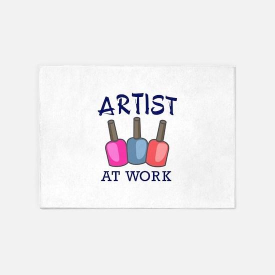 ARTIST AT WORK 5'x7'Area Rug