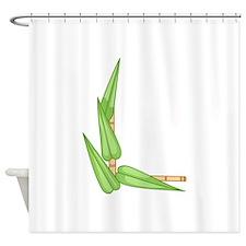 BAMBOO CORNER BORDER Shower Curtain