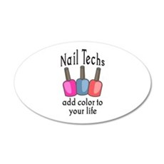 NAIL TECHS ADD COLOR Wall Decal