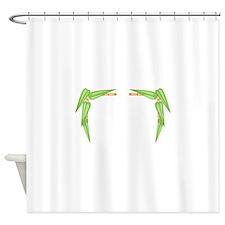 BAMBOO FRAME BORDER Shower Curtain