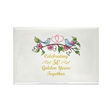 GOLDEN WEDDING ANNIVERSARY Magnets