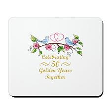 GOLDEN WEDDING ANNIVERSARY Mousepad