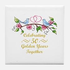GOLDEN WEDDING ANNIVERSARY Tile Coaster
