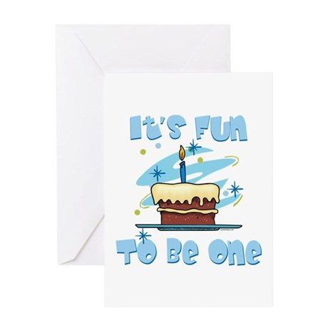 Fun To Be One Blue Greeting Card