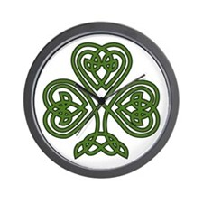 Celtic Shamrock - St Patricks Day Wall Clock