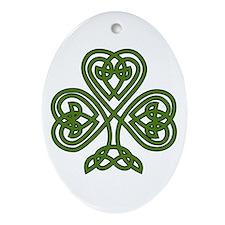 Celtic Shamrock - St Patricks Day Ornament (Oval)