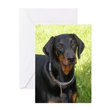 Unique Dobermann Greeting Card