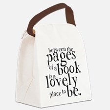 Between the Pages Canvas Lunch Bag