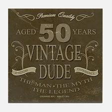 Vintage Fifty Tile Coaster