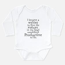 Something Productive Long Sleeve Infant Bodysuit