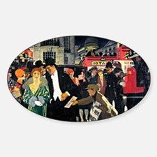 London: Piccadilly vintage painting Decal