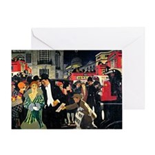 London: Piccadilly vintage painting Greeting Card