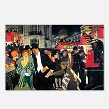 London: Piccadilly vintag Postcards (Package of 8)