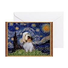 Starry Night PBGV Greeting Card