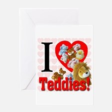 I Love Teddies Greeting Card