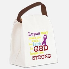 God Strong Canvas Lunch Bag