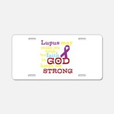 God Strong Aluminum License Plate