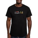I Love Pineapple Men's Fitted T-Shirt (dark)