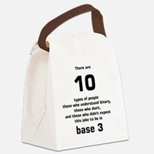 There are 10 types of people base Canvas Lunch Bag