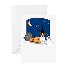 Beagle Howling Halloween Greeting Card