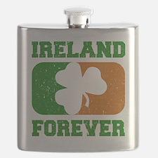 Irish Flag Shamrock Flask