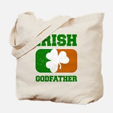 Irish Flag Shamrock Tote Bag