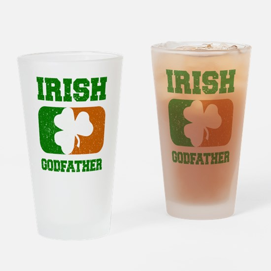 Irish Flag Shamrock Drinking Glass