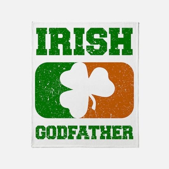 Irish Flag Shamrock Throw Blanket