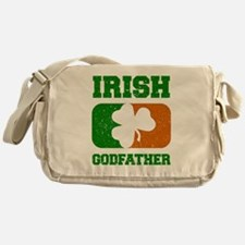 Irish Flag Shamrock Messenger Bag