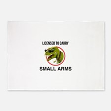 T-Rex licensed to carry small arms 5'x7'Area Rug