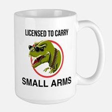 T-Rex licensed to carry small arms Mugs