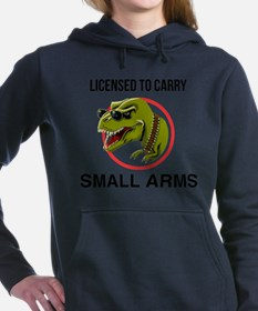 T-Rex licensed to carry small arms Women's Hooded