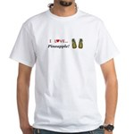 I Love Pineapple White T-Shirt