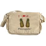 I Love Pineapple Messenger Bag