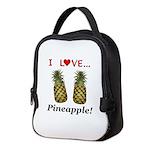 I Love Pineapple Neoprene Lunch Bag