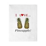 I Love Pineapple Twin Duvet