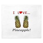 I Love Pineapple King Duvet