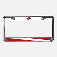 Instructor Diver License Plate Frame